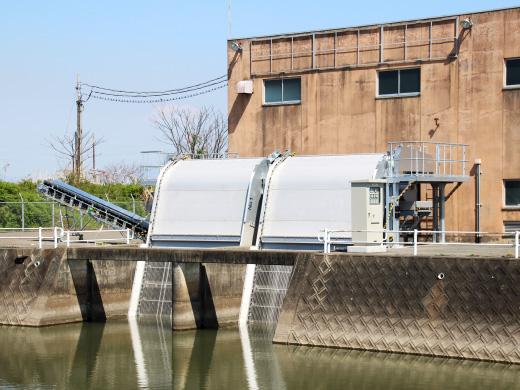 熊本市榎津排水機場除塵機(平成21年)